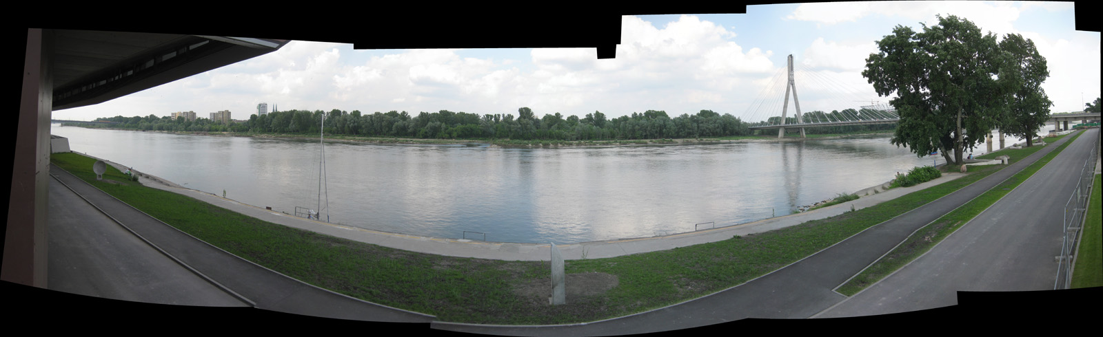 Vistula River from the Copernicus Science Center