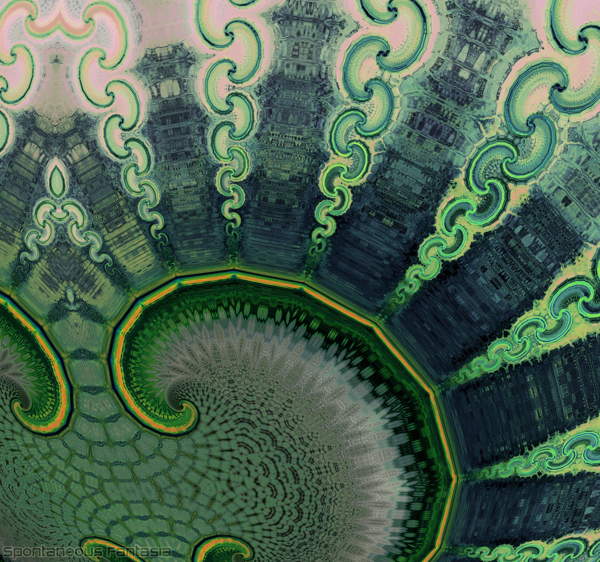 """Emerald Isles"" detail"