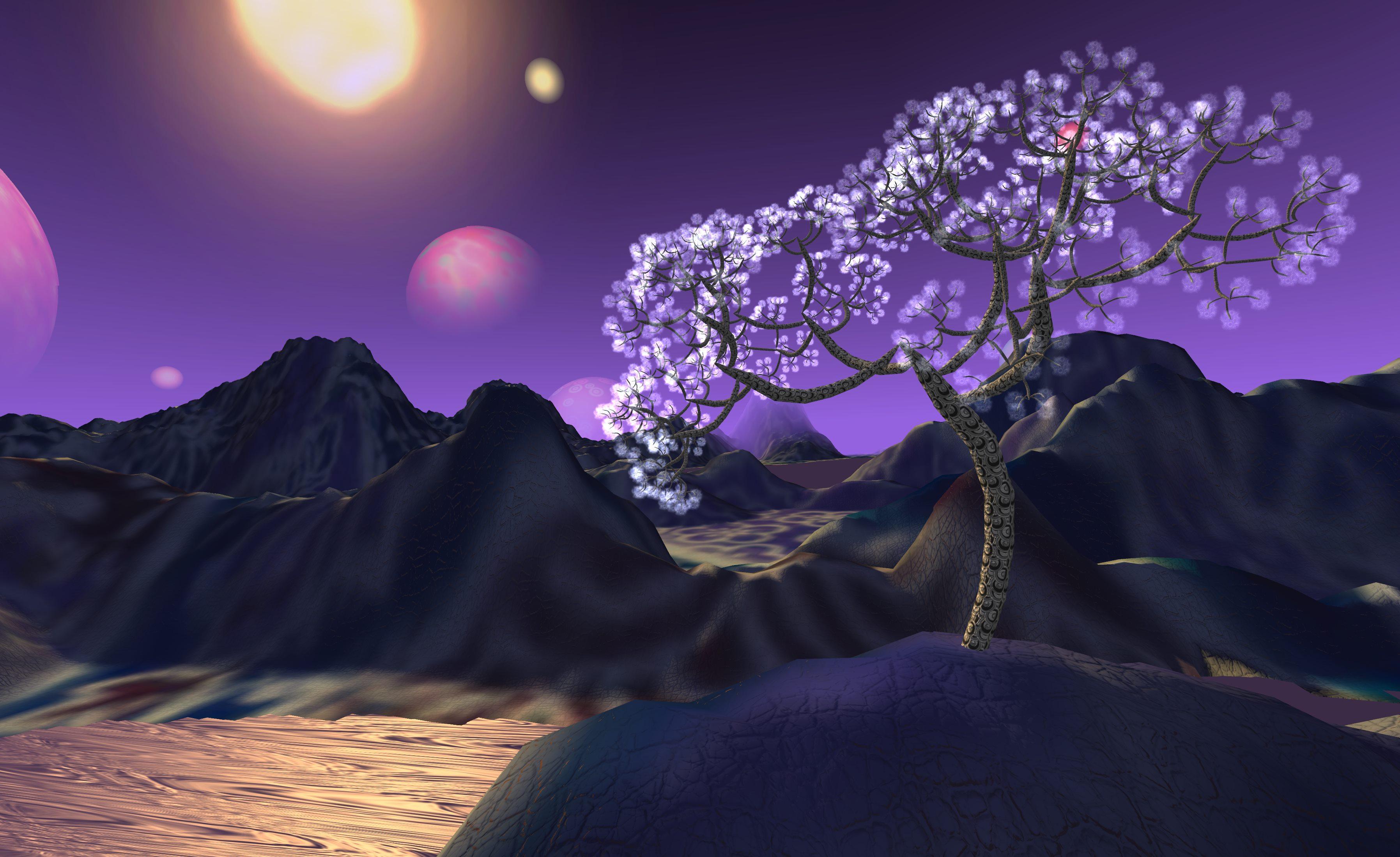Improvised 3D landscape