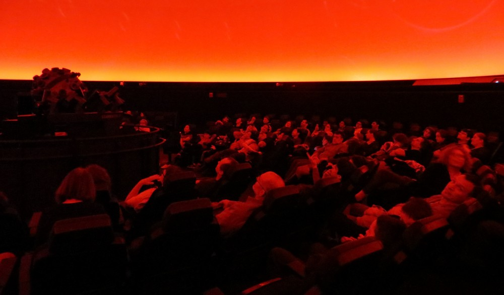Audience awaiting show at Boston Museum of Science