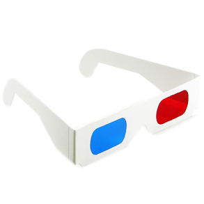 3D glasses, but not the actual type used for the show!